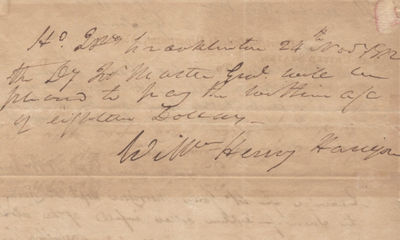 24/11/1812. William Henry Harrison was named secretary of the Northwest Territory - a huge tract of ...