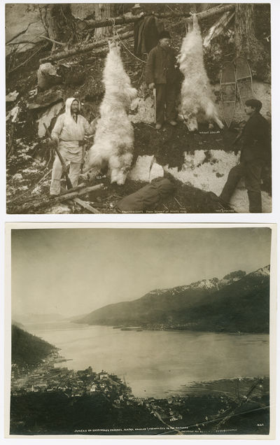 Juneau; White Pass, 1907. Two photographs, each approximately 7 1/2 x 9 1/2 inches. Slight wear at e...