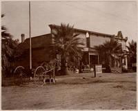 Original photo of Binghamton, California street scene with provision store