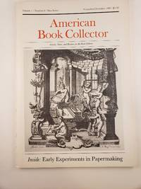 Katharine H. Porter: a Bibliographical Checklist  in American Book Collector, Volume 1, #6, New Series, November/December 1980