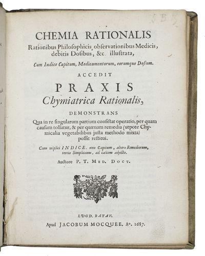 Chemia rationalis rationibus...