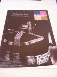 image of Catalogue of Bibliophile Sale. Including Performing Arts. Sale 653