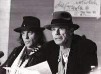 image of Original photograph of Joseph Beuys and Udo Lindenberg, 1983