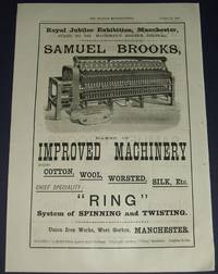 image of 1887 Illustrated Advertisement for Samuel Brooks Improved Machinery