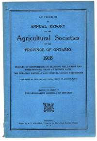 Appendix to Annual Report of the Agricultural Societies of the Province of Ontario 1918