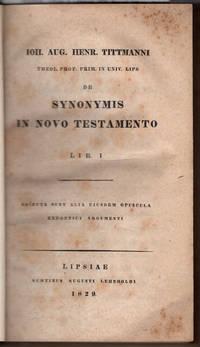 De synonymis in Novo Testamento lib. 1; adiecta sunt alia eiusdem opuscula exegetici argumenti.