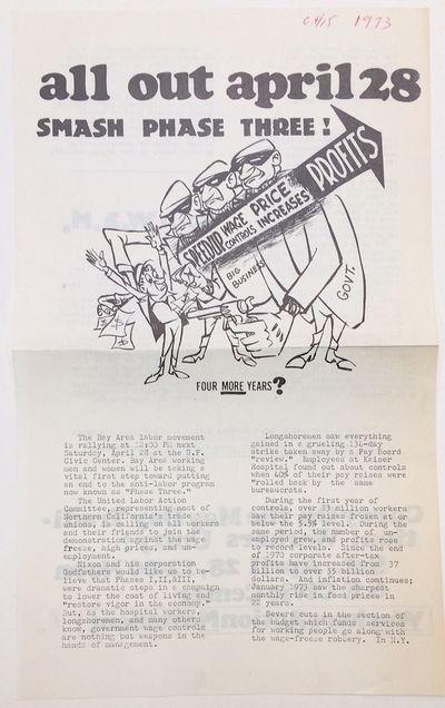 San Francisco: Workers Action Movement, 1973. 8.5x14 inch handbill, horizontal fold crease, date pen...
