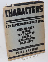 image of Characters; for September-October 1934