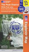 image of The Peak District: White Peak Area (OS Explorer Active Map OL24)