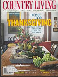 COUNTRY LIVING MAGAZINE NOVEMBER 2000 by Country Living - 2000 - from Gibson's Books (SKU: 83871)