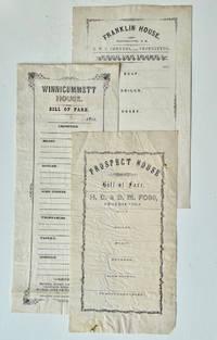 Three Unused Bills of Fare