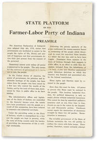 State Platform of the Farmer-Labor Party of Indiana