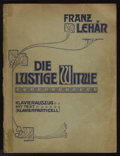 Wien: Ludwig Doblinger , 1936. Folio. Original publisher's decorative light green wrappers printed i...