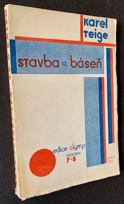 Prague: Edice Olymp, 1927. Pictorial wrappers. Very Good +. Karel Teige. A scarce, impressive exampl...