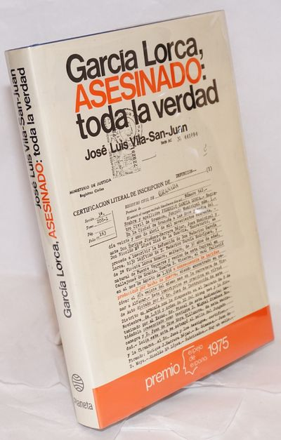 Barcelona: Editorial Planeta, 1977. Hardcover. 299p., facsimile document endpapers, bibliography, te...