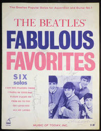 BEATLES' FABULOUS FAVORITES Six Solos [SIGNED BY ALL FOUR BEATLES]