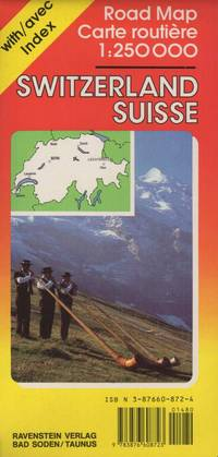 Switzerland International Road Map with Separate Index 1:250,000