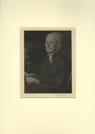 1926. Ulmann, Doris. Original platinum photograph, image size 8 x 6 inc. tipped to 11 x 14 inch boar...