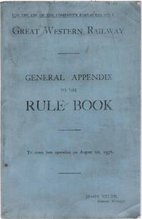 General Appendix to the Rule Book to come into operation on August 1st, 1936
