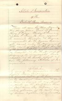 Articles of Incorporation of the Duluth Boom Company, 1882