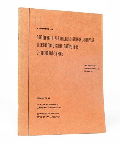 Washington DC: , 1952. First Edition. Near Fine. Near Fine copy in original orange paper wraps, with...