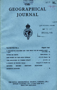 The Journal of the Royal Geographical Society, Monthly issue for August 1941