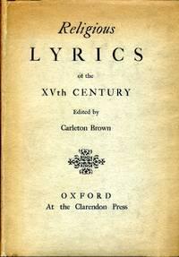 Religious Lyrics of the XVth Century