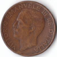 A Vintage 1922 Fine 10 Centesimi Coin from Italy