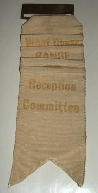 image of 1875 What Cheer Range R. I. Reception Committee Ribbon