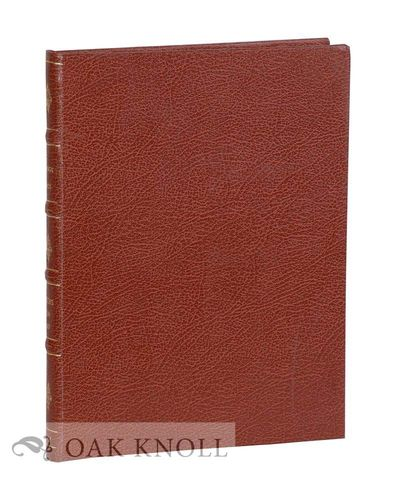 London: Maggs Bros, 1914. later full brown leather, four raised bands, spine gilt with original stif...