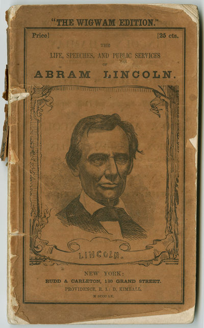 New York, 1860. 117pp. plus pp. of ads (including rear wrapper). Frontispiece portrait. Original pri...