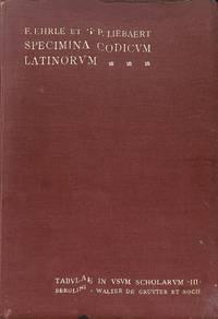 Specima Codicum Latinorum Vaticanorum.