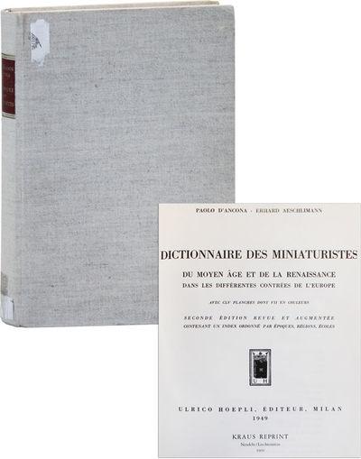Nendeln / Liechtenstein: Kraus, 1969. Reprint. Quarto (28cm.); publisher's full linen-covered boards...