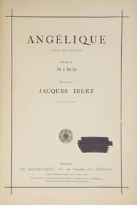 Angélique Farce en Un Acte Paroles de Nino. [Piano-vocal score]
