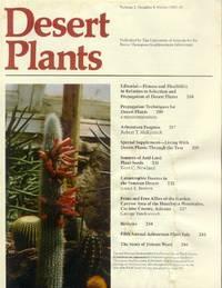 Desert Plants: Volume 2, Number 4, Winter 1980-81