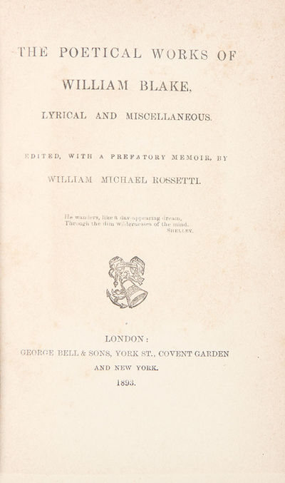 London: George Bell & Sons, 1893. Octavo. 231pp. Publisher's cloth, spine and front cover decorated ...
