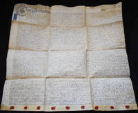 image of Handwritten Parchment Contract for Transfer of Property on Marriage and after Birth of Two Children