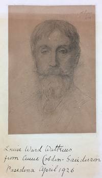 [Cobden-Sanderson, Anne, Inscribed Etching and Presentation] Etching by Alphonse Legros, Inscribed by Anne Cobden-Sanderson to Louise Ward