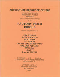 image of Video Circus (Original flyer for a screening of the 1981 film)