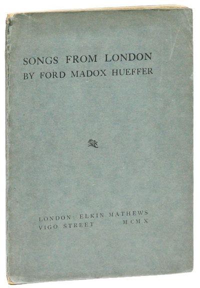 London: Elkin Mathews, 1910. First Edition. Slim octavo (20.5cm.); original teal printed card wrappe...