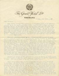 "a) TLS. 2pg. 8 ¼"" x 10"". July 15, 1920. Yokohama, Japan. A typed letter signed ""Neil"" laced..."