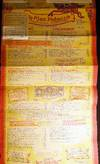 View Image 1 of 4 for 1959 Very Large Poster-sized Menu for Da Meo Patacca Rome Italy Inventory #24823