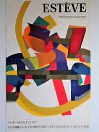 Exhibition Poster : ESTEVE Peintures Recentes, Galerie Claude Bernard, 4 Mai - 16 Juillet, 1977