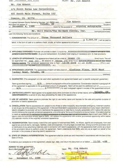 Northbrook, IL: Sports Marketing Services, Ltd., 1988. Autograph. Very good- condition. Unbound. Sig...