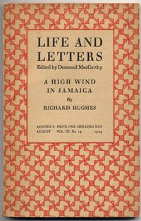 """image of A High Wind in Jamaica. [In]: """"Life and Letters"""", Edited by Desmond MacCarthy. Vol. III. No. 15. August, 1929."""