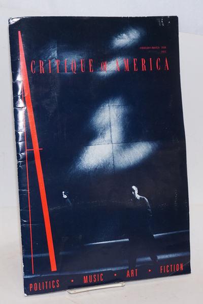 San Diego: Alden Mills, 1988. 86p, 11 x 17 inches, wraps with mild wear, avant-gard magazine with ve...