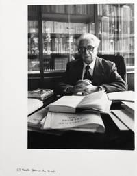 Portrait photographique de Fernand Braudel par Bruno de Monès (tirage vintage signé)