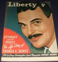 image of Vintage Issue of Liberty Magazine for Oct. 21st 1939 Cover Art by Robert  Reid