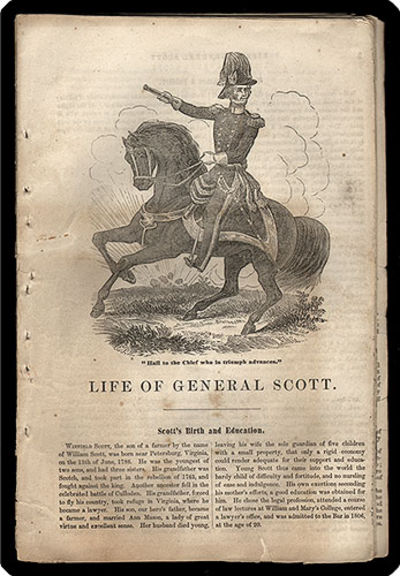 . 8vo. 32 pp.. Popular account of Scott, his childhood, education, accomplishments; a rousing piece ...