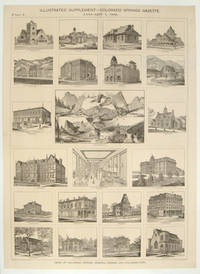 THREE BROADSIDES: Illustrated Supplement - Colorado Springs Gazette.  January 1, 1888.  Views of Colorado Springs, Manitou Spings and Colorado City. Parts 1, 2, and 3.